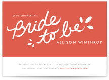 Orangina Bridal Shower Invitations