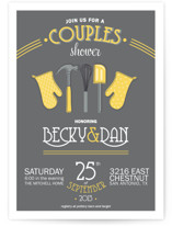 Couples Kitchen Bridal Shower Invitations