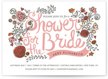 Wild Garden Bridal Shower Invitations