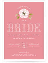 Vintage Painted Flower Bridal Shower Invitations
