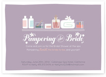 Pampering the Bride Bridal Shower Invitations