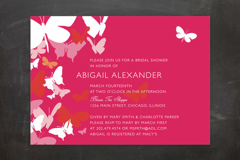 Butterfly Gathering Bridal Shower Invitations