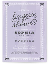 Boudoir Bridal Shower Invitations