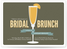 Fresh Mimosa Bridal Shower Invitations