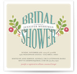 Botanical Banner Bridal Shower Invitations