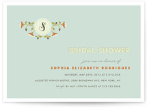 Single Initial Bridal Shower Invitations