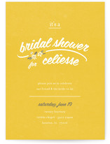 Flower Toss Bridal Shower Invitations