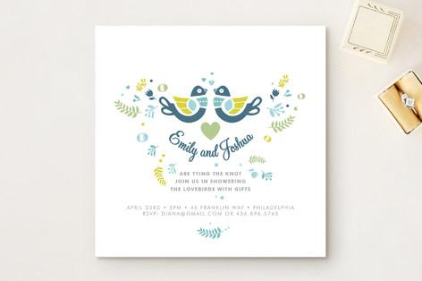 love bird bridal shower invitations
