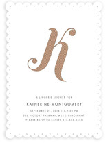 Risque Initial Bridal Shower Invitations