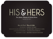 His and Hers Showers Bridal Shower Invitations