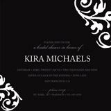 chocolat et crème Bridal Shower Invitations