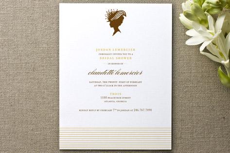 Darling Silhouette Bridal Shower Invitations