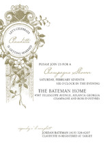 French Champagne Bridal Shower Invitations
