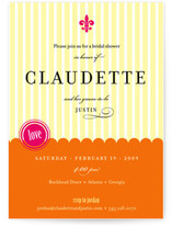 French Fair Bridal Shower Invitations