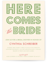 float + here comes Bridal Shower Invitations