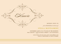 French Vintage Bridal Shower Invitations