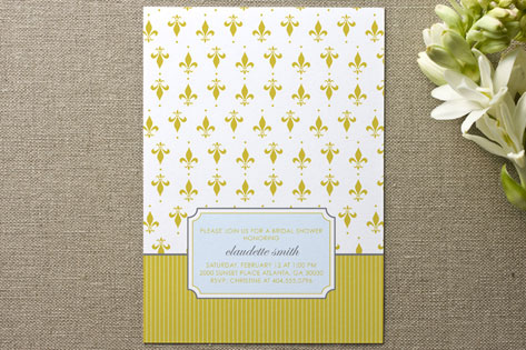 French Wallpaper Bridal Shower Invitations