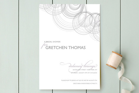 Intricate Bridal Shower Invitations