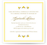 Petite Fleur Bridal Shower Invitations