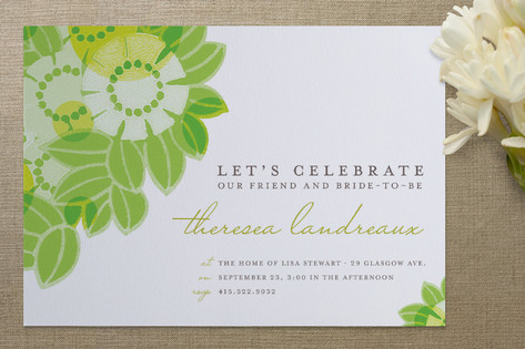 Flower Collage Bridal Shower Invitations