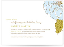 Simple Sophisticate Bridal Shower Invitations