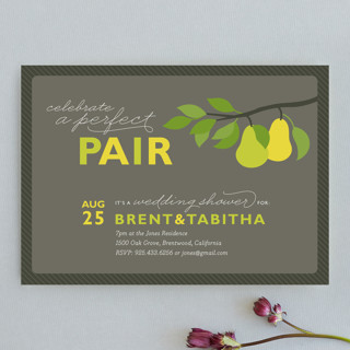 Wedding invitation and stationery wording bridal shower invitation bridal shower invitation wording example celebrate a perfect pair aug 25 its a wedding shower for brent tabitha 7pm at the jones residence 1500 oak stopboris