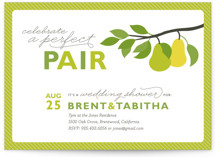 Perfect Pair Bridal Shower Invitations