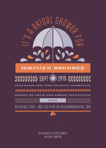 Under My Umbrella Bridal Shower Invitations