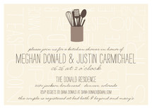 Kitchen Type Bridal Shower Invitations