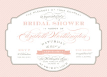 Lovely Label Bridal Shower Invitations
