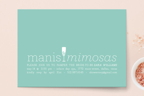 Manis and Mimosas Bridal Shower Invitations