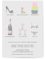 Champagne et Macarons Bridal Shower Invitations