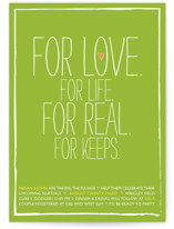 For Love. For Life. Bridal Shower Invitations