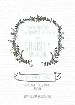 Woodland Wreath Bridal Shower Invitations