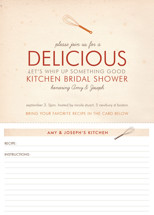 Couple&#039;s Recipe Bridal Shower Invitations