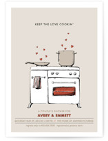 Keep the Love Cookin&#039; Bridal Shower Invitations