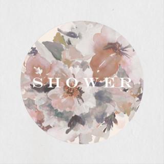 Subtle Blooms Bridal Shower Stickers
