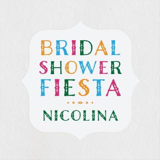 fun fiesta Bridal Shower Stickers