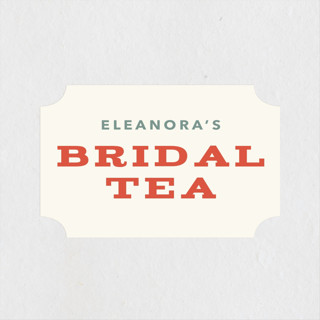 Vintage Bridal Tea Bridal Shower Stickers