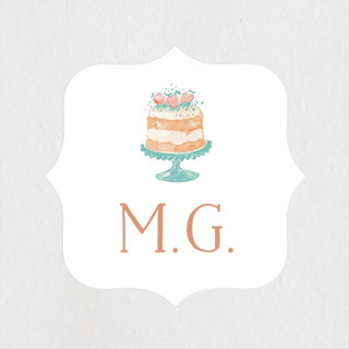 Princess cake Bridal Shower Stickers