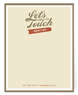 Stay in Touch Business Stationery Cards