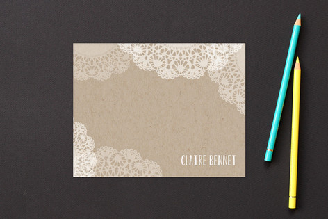 Doilies On Craft Business Stationery