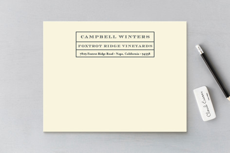 Vintner Business Stationery