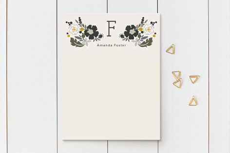 Clean Cut Florals Business Stationery Cards