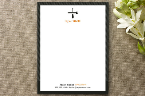No Job Too Small Business Stationery Cards