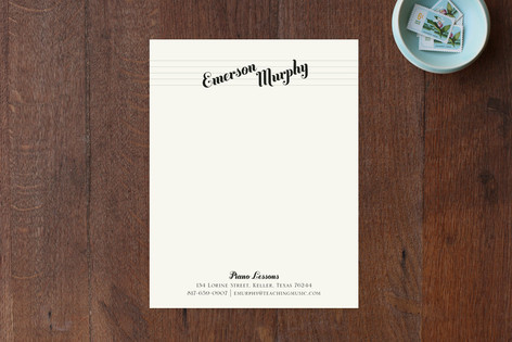 Piano Lessons Business Stationery Cards