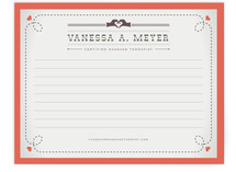 Vintage Massage Business Stationery Cards