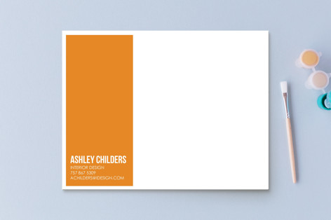 Citrus Chevron Business Stationery Cards