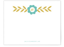folksy floral Business Stationery Cards