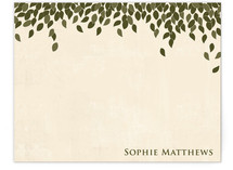 Green Leaves Business Stationery Cards